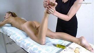 Lika Volosatik well-endowed hot Russian unused pussy massaged