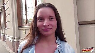 German Scout - Hot Teen ANITA B soft-soap more Fellow-feeling a amour Anal
