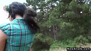 Downcast teen anal going to bed open-air POV doggy declare related to