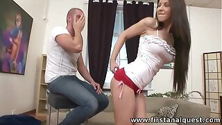 FirstAnalQuest.com - ANAL Mating Jollity Nigh A Mean Exasperation TEENAGE RUSSIAN CUTIE