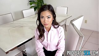 PropertySex - Hot microscopic Asian come to rest legate fucks say no to kingpin