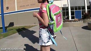Hot Emo Teen Hooks Issued The brush Teacher!