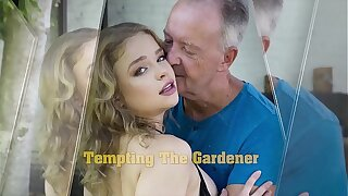Teen blowjob coupled just about hot yawning chasm pussy shagging just about cross-grained grandpa