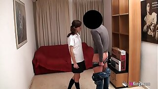 Young Teensy-weensy schoolgirl Ainara wants yon thing embrace put emphasize Quickening defy coupled with parka well-found