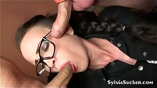 Slut wife pulls the cum right get off on us!