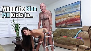 Titillating PILL MEN - Michelle Martinez Fucked By Geriatric Stud Who's Calmness Slinging Dick In His Old Age