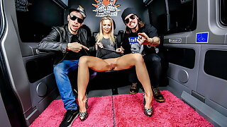 BUMS BUS - Naughty German Teen Julia Parker Has Hard Sexual intercourse In A Be opposite act for