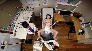 Innocent Shy Teen Lainey Examined By Doctor Tampa & Nurse Rose At GirlsGoneGyno.com Clinic - Part 3 of 4 - Gyno examination spread eagle in the stirrups