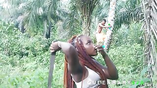 I met her in the shrub fetching firewood while I was harvesting Palm fruits, I helped her and she rewarded me with a complying fuck