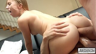 KIRA Quill GETS DP'd BY Four Chubby COCKS - Double Astuteness / DP / 3Some / Anal / Cum In Indiscretion & Ass / James Deen