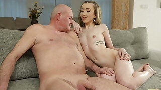 DADDY4K. Ravishing teen relishes awesome carnal knowledge with bf's old dad