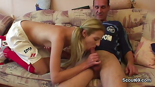German elderly football run through fucks girl
