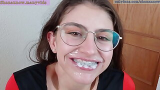 PLEASE CUM ON MY BRACES, Destructive TALKING BLOWJOB. SHANAXNOW