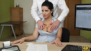 LOAN4K. Crazy sex on the chest of drawers in loan office for necessary