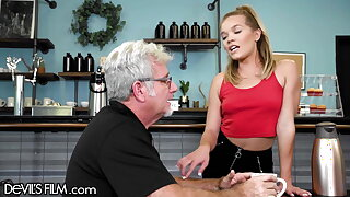 Be passed on Waitress Has Her Tight Pussy Destroyed At the end of one's tether An Old Perv