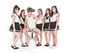 Michael Vegas Has VR Orgy with Babes relating to School Uniforms