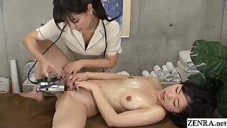 Japanese lesbian massage – revealed client gets fingering treatment