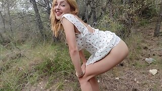 Hard profaning a petite blonde teen in the homeland painfully